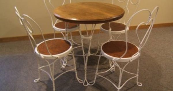Vintage Ice Cream Parlor Table Amp Chairs Vintage Ice