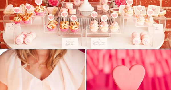 Ribbons and Ruffles Pink Baby Shower idea {Desserts}