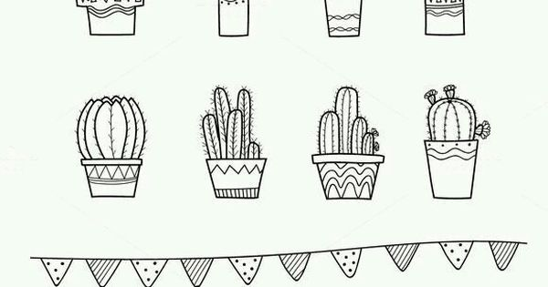 این نقاشی ها برا بولت ژورنال خیلی خوبه کاکتوس ریسه حروف گلدان نقاشی نقاشی بکشیم Cactus Letters R Sketch Book Bullet Journal Doodles How To Draw Hands