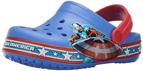 Blue Marvels Avengers Kids Silly Feet Clogs 2//3