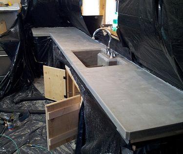 Concrete Countertop Pictures Diy Concrete Countertop Gallery