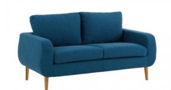 d couvrez fly sixties canap 2 places bleu canard. Black Bedroom Furniture Sets. Home Design Ideas