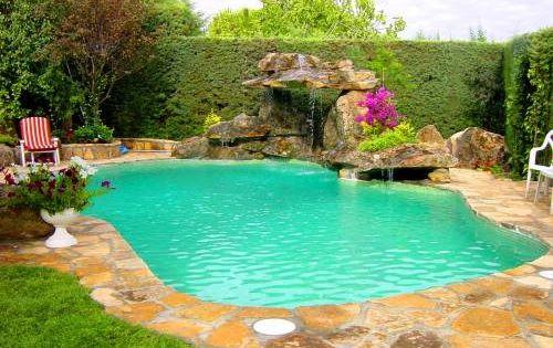 cascadas para piscinas imagui
