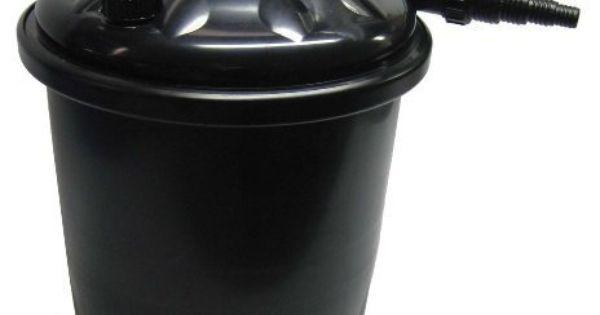 Easypro ecf25u pressurized filter with built in uv for for Easy pond filter