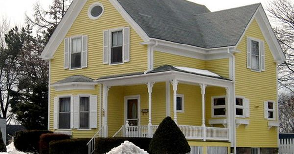 Exterior yellow paint and red door combo choosing the perfect exterior paint schemes for Exterior paint yellow