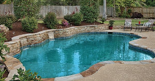 Pools with retaining wall with waterfall 131 photos from for Luxury pools with waterfalls