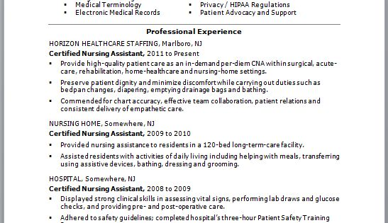 If You Think Your CNA Resume Could Use Some TLC, Check Out This Sample Resume For Ideas On How