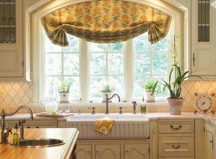 Sencilla cortina cocina estilo rustico cortinas cocina - Cortinas estilo rustico ...