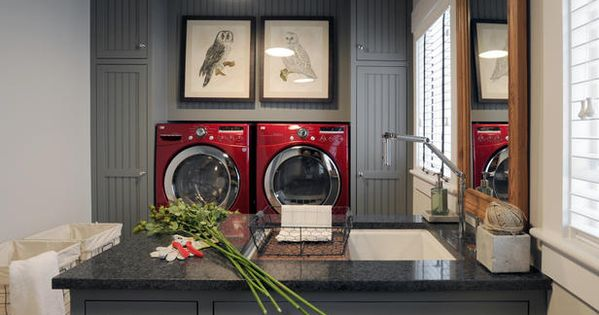 Good Ideas For You | Laundry Room Ideas Love the cabinet color