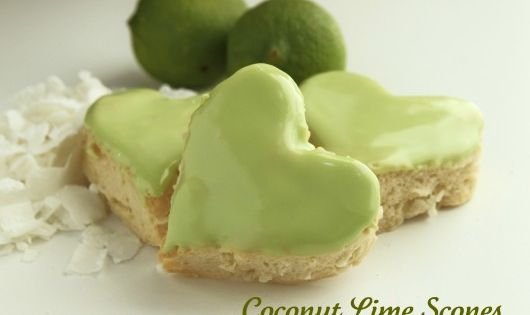 4th Course Dessert Option 3: Coconut Lime Scones (serve with some green