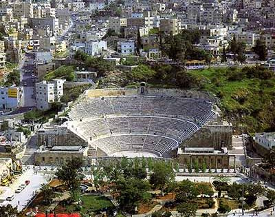Amman / The Roman Theater in Jordan. Book with www.gweet.com to find