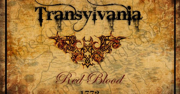 Primitive Halloween Label - Transylvania - Printable