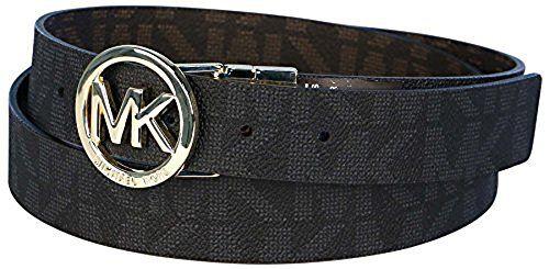 Michael Kors Mk Signature Monogram Belt and Buckle Reversible ...