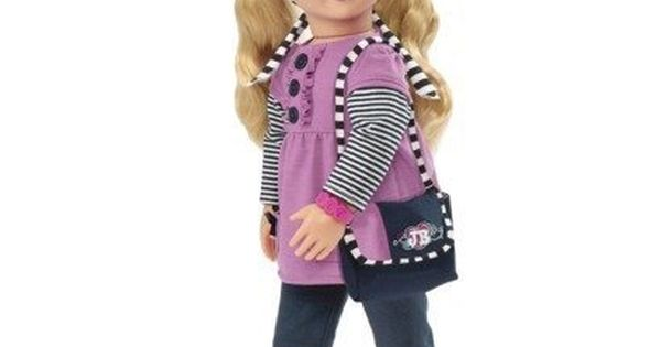 """Our Generation 18/"""" Doll Jukebox Babysitter Ashley Rose /& Baby Doll Book Outfit"""