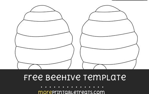 Free Beehive Template - Medium