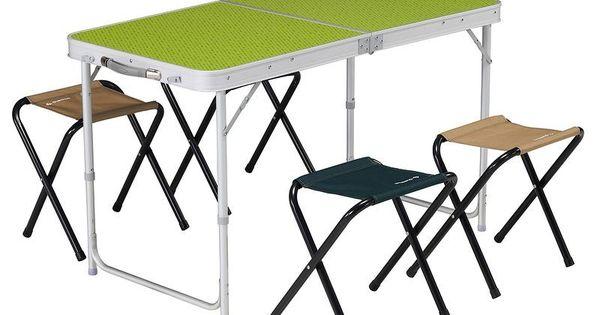 Mobilier camping table 4 personnes avec 4 si ges vert - Table 18 personnes ...