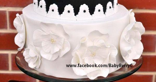 Flowers Amp Bling Feminine 50th Birthday Cake Visit Http