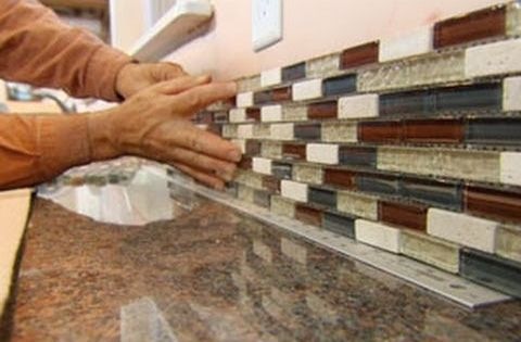 how to install a glass tile backsplash youtube using a peel and
