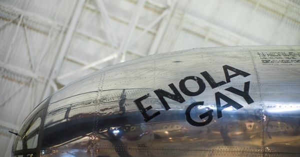nose art on the enola gay