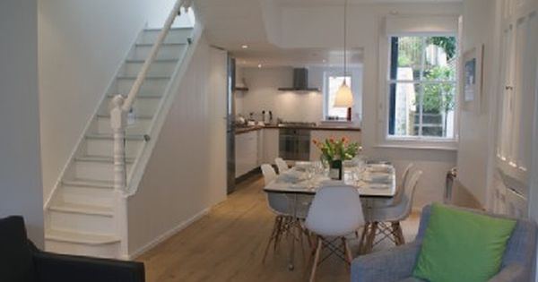 Pin By Naz Corrigan On Home Style Stairs In Living Room Victorian Terrace Interior Open Plan Kitchen Dining Living