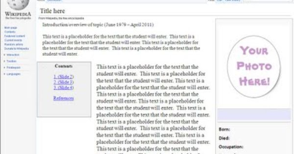 Tomorrow S Tech In Today S Schools Wikipedia Project Student Created Wikipedia Projects