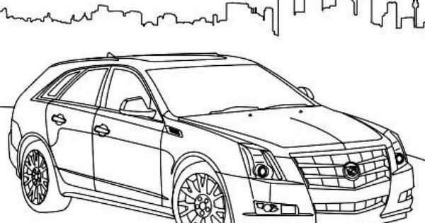 cadillac cts sport coloring page