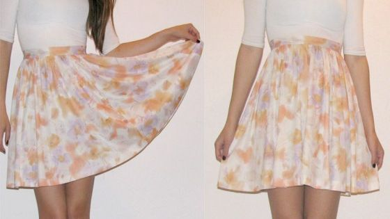 DIY cute skirt out of old dress Make summer clothes out of