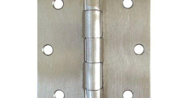 Satin Nickel 3 5 X 3 5 Inch Straight Square Corner Interior Door Hinge Brushed Interior Door Hinges Doors Interior Door Hinges