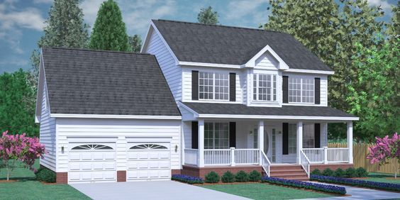 House Plan 2309 B The Coleman B Classical Two Story Colonial Design With 3 Bedrooms And 2 Baths Up Colonial House Plans New House Plans Two Story House Plans