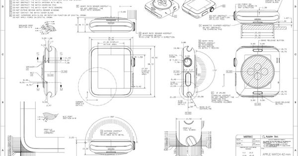 apple releases apple watch cad drawings