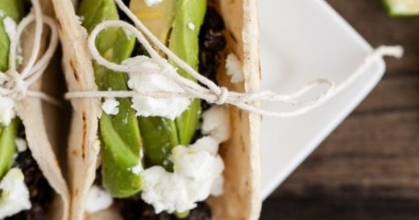 Spiced Black Bean, Grilled Avocado, and Goat Cheese Tacos | Recipe ...