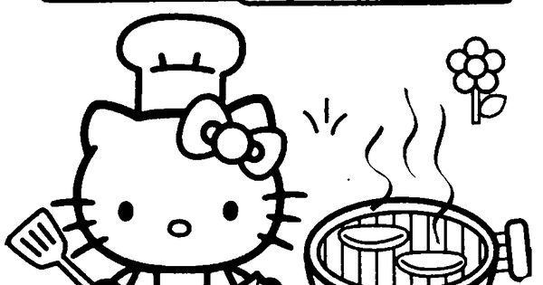 Hello Kitty Kitchen Coloring Pages : Hello kitty color pages