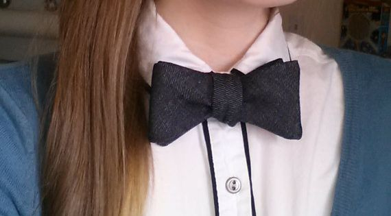 Denim Bow Tie - great look for both men and women!