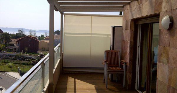 Toldo lateral cortavientos en terraza sistemas de protecci n solar pinterest cortavientos - Bauhaus toldos ...