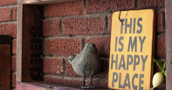 make 'this is my happy place' sign for greenhouse