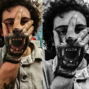 Tiger S Mouth Hand Banger Best Tattoo Design Ideas In 2020 Hand Tattoos Hand Tattoos For Guys Skull Hand Tattoo
