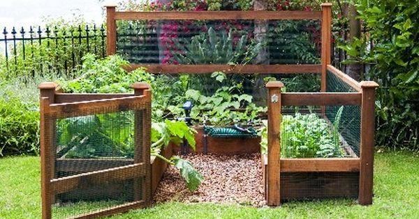 Great set up for a veggie garden Garden Fencing trellis garden ideas