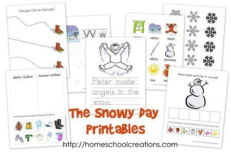 The Snowy Day Printables Early Learning Snowy Day Preschool