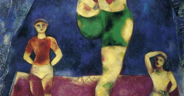 Marc chagall paintings three acrobates marc chagall for Biographie de marc chagall