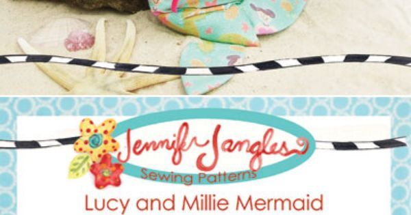 Lucy /& Millie Mermaid cute /& simple cloth doll PATTERN PATTERN