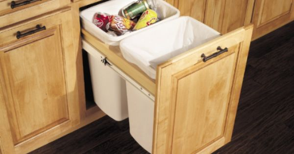 Cabinets And Hardware Merillat Masterpiece Trash Drawer