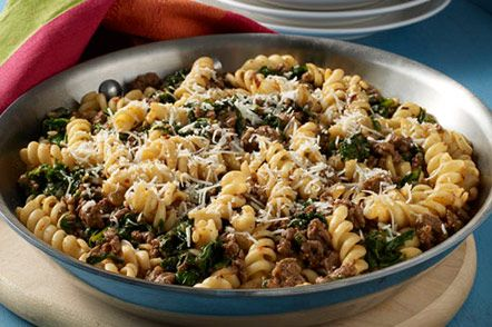 Rotini With Ground Beef Spinach Ground Beef And Spinach Pasta Dishes Healthy Pasta Recipes