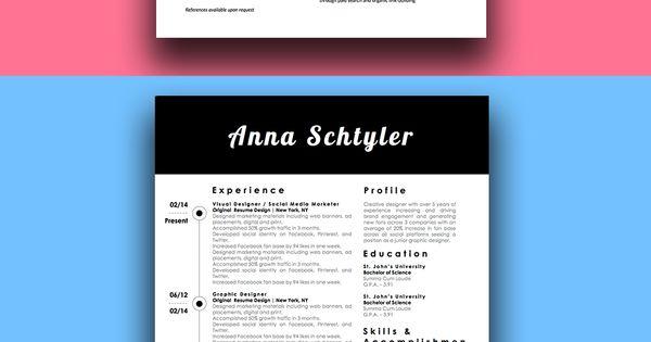 modern millennial resume bundle