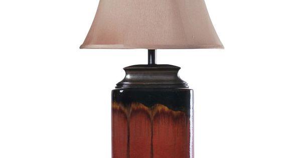 red ceramic table lamp living room pinterest ceramic