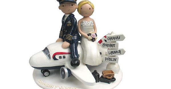 Airplane Cake Topper Pilot Wedding