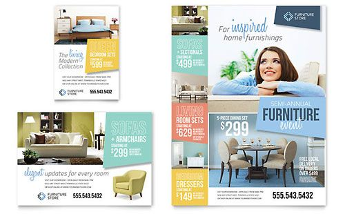 Home Furnishings Flyer Ad Template Brochure Design Template