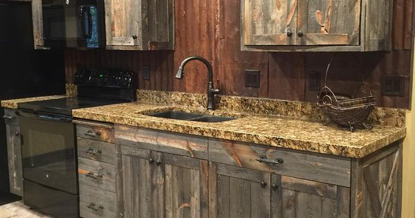 rustic kitchen cabinets diy a barnwood kitchen cabinets and corrugated steel 4989