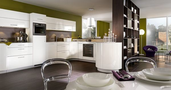 cuisine quip e mobalpa gaia et galbe blanc brillant. Black Bedroom Furniture Sets. Home Design Ideas