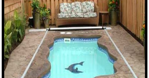 Love This Small Inground Pool Cost About 3 500 I Especially Like The Pool Cover Plunge