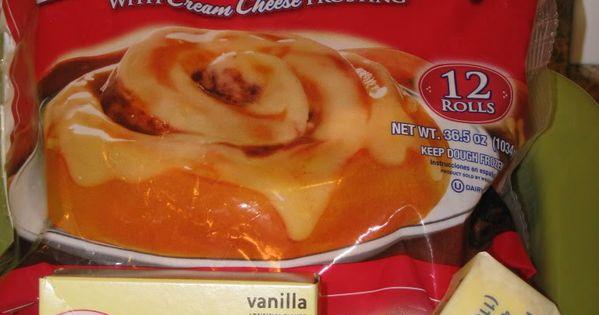 'Can't Miss' Cinnamon Rolls -- Frozen Rhodes + box vanilla pudding +